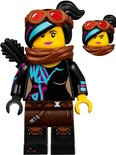 Lucy Wyldstyle with Black Quiver, Reddish Brown Scarf and Goggles, Smile / Angry (tlm129)