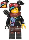 Lucy Wyldstyle with Black Quiver, Reddish Brown Scarf and Goggles, Open Mouth  Smile / Angry (tlm117)